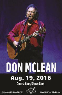 Don McLean 8/19/16  #Legend #AmericanPie #LiveMusic #MusicVenue #Songwriter #Richmond #Virginia