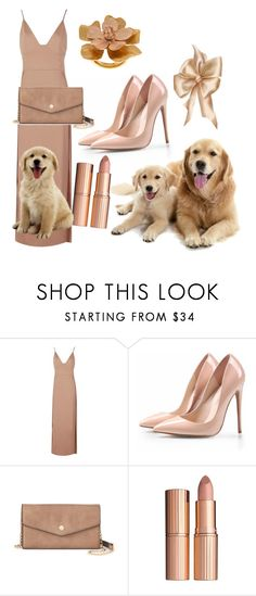 """Beige"" by svitilovamonika ❤ liked on Polyvore featuring Boohoo, Deluxity, Charlotte Tilbury, Oscar de la Renta, set, beige and nomen"