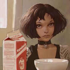 Mathilda (Leon the professional). Amazing vector portraits by Ilya Kuvshinov, talented digital artist and illustrator based in Moscow, Art And Illustration, Illustrations Pop, Creative Illustration, Character Illustration, Art Pop, Character Design References, Character Art, Character Portraits, Mathilda Lando