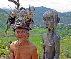 Ifugao man with rice god