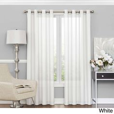 Eclipse Liberty Light Filtering Sheer Curtain Panel 52 W X 63 L
