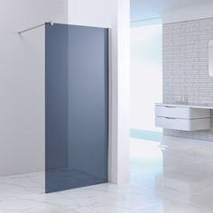 Blinq Shower inloopdouche rookglas