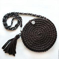 сумка из трикотажной пряжи, вязаная сумка, сумка из тпряжи, клатч, сумочка ручной работы