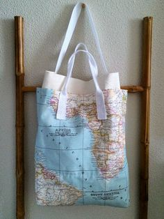 Bolsa Mapa Multibolsillos / Multipocket Map Tote Bag (diy) | SLOANE STREET