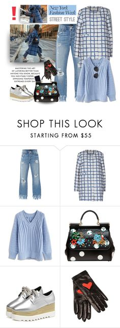 """""""Best NYFW Street Style Trend"""" by firstclass1 ❤ liked on Polyvore featuring 3x1, KOCCA, Chicwish, Dolce&Gabbana, Boutique Moschino, Givenchy, StreetStyle, NYFW, fashionista and trend"""