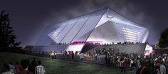 Competition - Tennis Arena - Fenwick Iribarren Architects _ Doha, Qatar