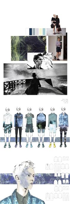 Fashion Illustration Ideas Fashion Portfolio layout - fashion design development with sea-inspired prints - fashion mood board; fashion illustration // Emily Edge - Q Portfolio Design Layouts, Design Portfolio Layout, Portfolio Presentation, Layout Design, Portfolio Ideas, Design Ideas, Layout Cv, Design Portfolios, 3d Design