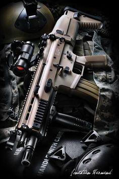 "SCAR-L: Combat Assault Rifle - L for ""light"" using the 5.56x45mm Nato round vs the SCAR-H with uses the 7.62x51mm NATO"