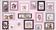 Fancy Cats Fabric Panel - Fabric – Loralie Designs