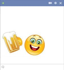 Smiley cheering with beer