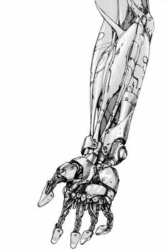 Illustration of a mechanical arm from the sci-fi manga classic「AKIRA」by Otomo Katsuhiro, Japan ★ || *Please support the Artists and Studios featured here by buying this and other artworks in their official online stores • Find us on www.facebook.com/CharacterDesignReferences | www.pinterest.com/characterdesigh | www.characterdesignreferences.tumblr.com | www.youtube.com/user/CharacterDesignTV and learn more about #concept #art #animation #anime #comics || ★