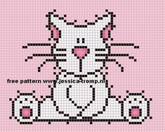 Cute cat X-stitch pattern Cat Cross Stitches, Cross Stitching, Cross Stitch Embroidery, Cross Stitch Patterns, Cross Stitch Fairy, Cross Stitch Cards, Cross Stitch Animals, Pixel Crochet Blanket, Flower Chart