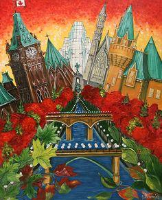 Pride of Ottawa Autumn Red by Jill Alexander Vibrant Colors, Colours, Four Legged, Ottawa, Fine Art America, Pride, Wings, Art Deco, Autumn