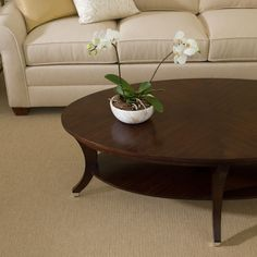 Adler Oval Coffee Table   Ethan Allen US