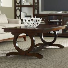 """Display your favorite décor or set out a tray of cocktails before dinner on this beautiful occasional from Hooker Furniture, the perfect finishing touch for your living room, foyer, or den décor.   Product: Cocktail tableConstruction Material: Hardwood solids and walnut veneersDimensions: 20"""" H x 54"""" W x 32"""" DShipping: This item ships with our Room of Choice Delivery Service, so you will receive a call after the item ships to set up a time for delivery. Your order will be…"""