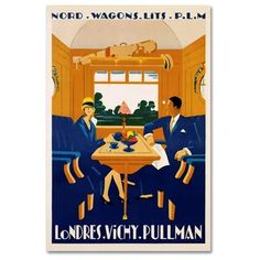 Global Gallery 'Nord-Wagons Lits-PLM' by Jean-Raoul Naurac Framed Vintage Advertisement Size: H x W x D Vintage Surf, Vintage Hawaii, Art Deco Posters, Poster Prints, Art Deco Paintings, Italy Art, 230, California Art, 1920s Art Deco