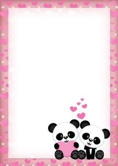 - A cute panda backing sheet, to match the Love Pandas card - but also suitable for other craft projects. Panda Themed Party, Panda Party, Panda Love, Panda Bear, Cute Panda Wallpaper, Panda Wallpapers, Preschool Art Activities, Cute Clipart, Kids Poster