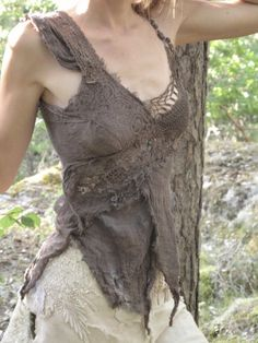 Chocolat , fractal weave top for festval gypsy boho hippie goddess