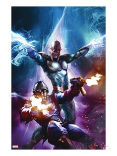 The Thanos Imperative Cover: Star-Lord and Nova Shooting Marvel Comics Poster - 30 x 46 cm Marvel Dc Comics, Anime Comics, Heros Comics, Ms Marvel, Marvel Heroes, Marvel Comic Character, Marvel Comic Books, Comic Book Characters, Comic Book Heroes