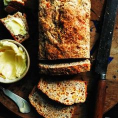 Herbed cheddar soda bread