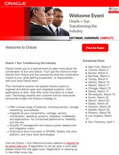 oracle welcome email - Pesquisa Google