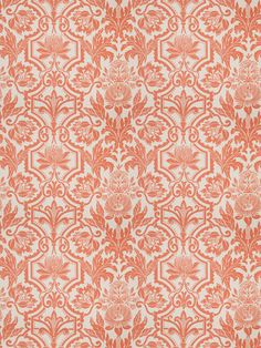 Jardinage Persimmon is a perfect orange spice floral design from the New York Botanical Garden Collection by Vervain Orange Home Decor, Orange House, Furniture Showroom, Vintage Fabrics, Fabric Samples, Traditional Design, Fabric Patterns, Woven Fabric, Damask