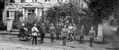 Feuerwehr vor dr Villa Pickhardt 1910 (?)