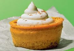 Skinny personal pumpkin pies (the link associated with this picture doesn't work but try the new recipe I just linked and make it in individual ramekins - it is so good!)