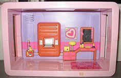 BlueBox room by room pink bedroom (Rebecca's Collections) Tags: vintage hongkong lights battery plastic sounds bluebox vintagedollshouse