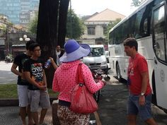 Street vendors still harassing foreign tourists in Ho Chi Minh City      A street vendor approaches a foreign tourist as soon as he gets off a bus near the Saigon Notre-Dame Cathedral in Ho Chi Minh City. Photo: N.Tran Tam   A group of vendors wait by their motorbikes fully loaded with colorful T-shirts on the sidewalks of Vo Van Tan Street in District 3....  Vietnam Tour Expert Help: www.24htour.com Halong Bay Cruises Tour  Expert Help: www.halongcruises.com.au  #vietn