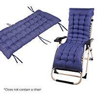 casa.pro Sun Lounger Chair 190 x 60 x 98 cm Foldable Blue