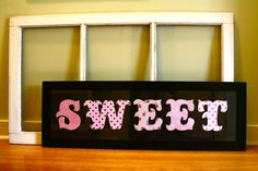 Perfect for a little girls room! SWEET.