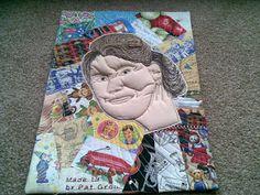 """Self Portrait - Fleur Maddern- """"Up Till Now"""" Challenge 1 - Art Quilts Around the World"""