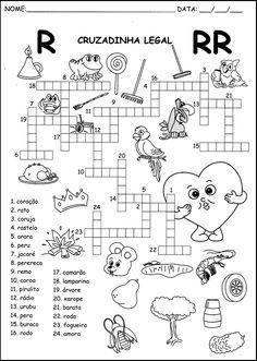 ATIVIDADES PARA APOIO PEDAGÓGICO: Ortografia Spanish Words, Spanish Language Learning, Speech Language Therapy, Math Worksheets, Math Lessons, Diy For Kids, Homeschool, Diagram, Bullet Journal