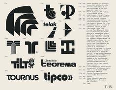 Eric Carl Collection of vintage logos from a edition of the book World of Logotypes jpg Logos Trademark Symbol, Logo Luxury, Vintage Logo Design, Vintage Logos, Retro Vintage, Health Images, Retro Font, Creative Logo, Creative Typography