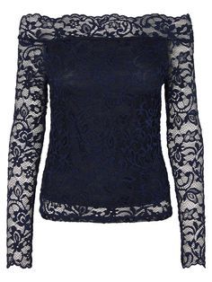Beautiful off shoulder lace blouse from VERO MODA. Style it with a leather skirt and a pair of heels for your next party.