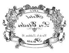 Etiqueta francesa Les Etoiles blanco y negro imprimible.