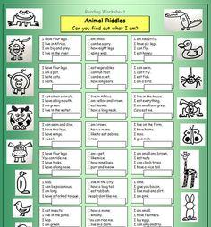 Animal riddles.