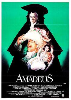 AMADEUS - Amadeus - 1984 - Milos Forman. Cartel italiano