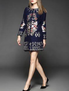 Oversized Embroidery Wool Long Coat