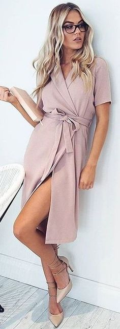 #fall #work #outfits | Pink 'Power Hour' Dress