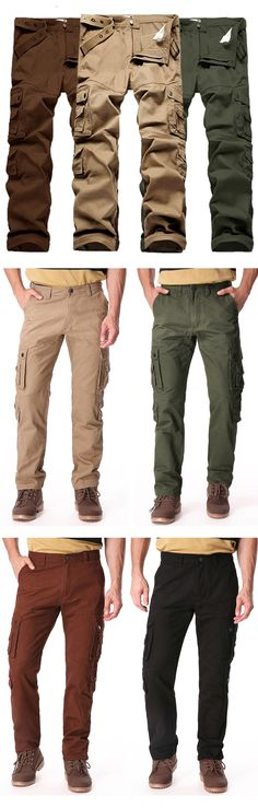 $18 Only for code: DL429244 Causal Plus Size Cotton Cargo Pants #men #outdoors #outfits