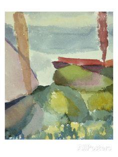The Seaside in the Rain; See Ufer Bei Regen Giclée-Druck von Paul Klee bei AllPosters.de