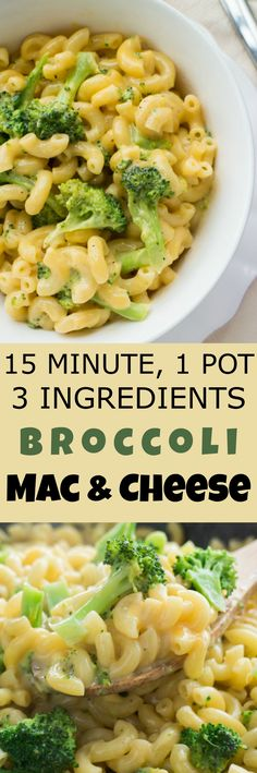 This Stovetop Broccoli Macaroni and Cheese is made with 1 pot, 3 ingredients and only takes 15 minutes to make. Grab your pasta, Velveeta cheese and broccoli and make this easy creamy homemade mac and cheese for dinner soon! Kids will love how delicious i Easy Pasta Recipes, Baby Food Recipes, Dinner Recipes, Cooking Recipes, Elbow Macaroni Recipes, Drink Recipes, Macaroni And Cheese, Pasta Cheese, Gastronomia