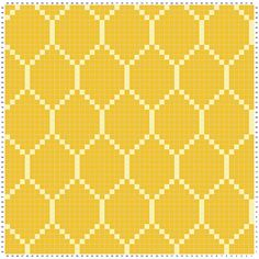 Diy Crafts - Ravelry: Abundant Honeycomb Blanket pattern by Deedee Alexander Crochet Chart, Filet Crochet, Crochet Motif, Crochet Stitches, Tapestry Crochet Patterns, Mosaic Patterns, Knitting Patterns, Cross Stitch Embroidery, Cross Stitch Patterns