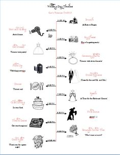 Wedding day timeline template wedding day timeline wedding black wedding day timeline for the girls now with template link wedding brown diy girls ivory pink timeline timeline maxwellsz