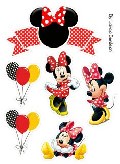 Mickey Mouse E Amigos, Minnie Mouse Stickers, Mickey E Minnie Mouse, Minnie Mouse Cupcake Toppers, Theme Mickey, Minnie Mouse Birthday Decorations, Bolo Minnie, Minnie Mouse Theme Party, Mickey Mouse And Friends