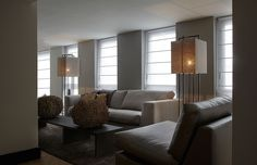 contemporary neutral living room | Hillegersberg Rotterdam Living Room | Layer by Adje