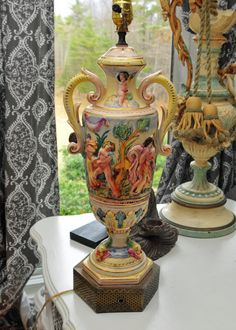 Capodimonte Lamp by unavesmas2 on Etsy