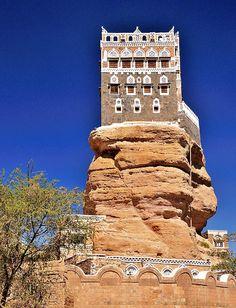 Yahyas Old Summer Palace, Dar Al Hajar, Wadi Dhar, Yemen